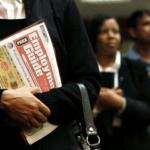 black- americans -unemployment-line-job-fair
