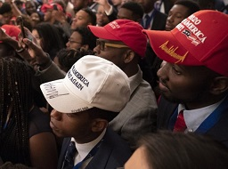 Blacks with MAGA hats