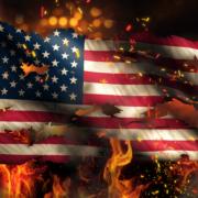 America buring