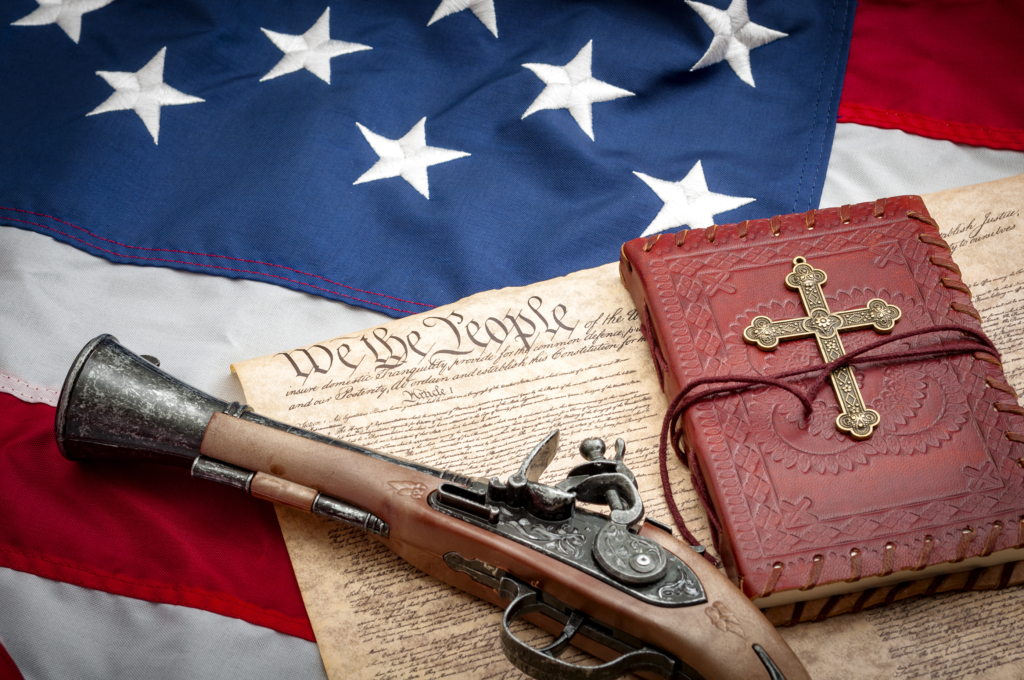 The constitution protects the right to bear arms and freedom of religion